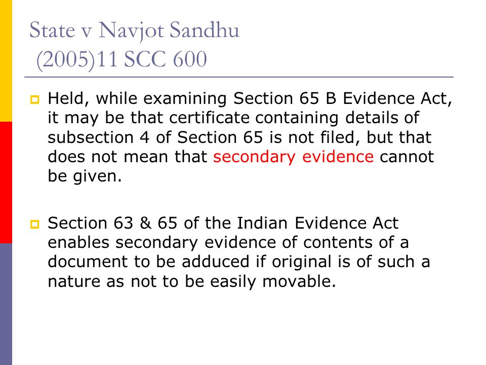 section 65b of indian evidence act