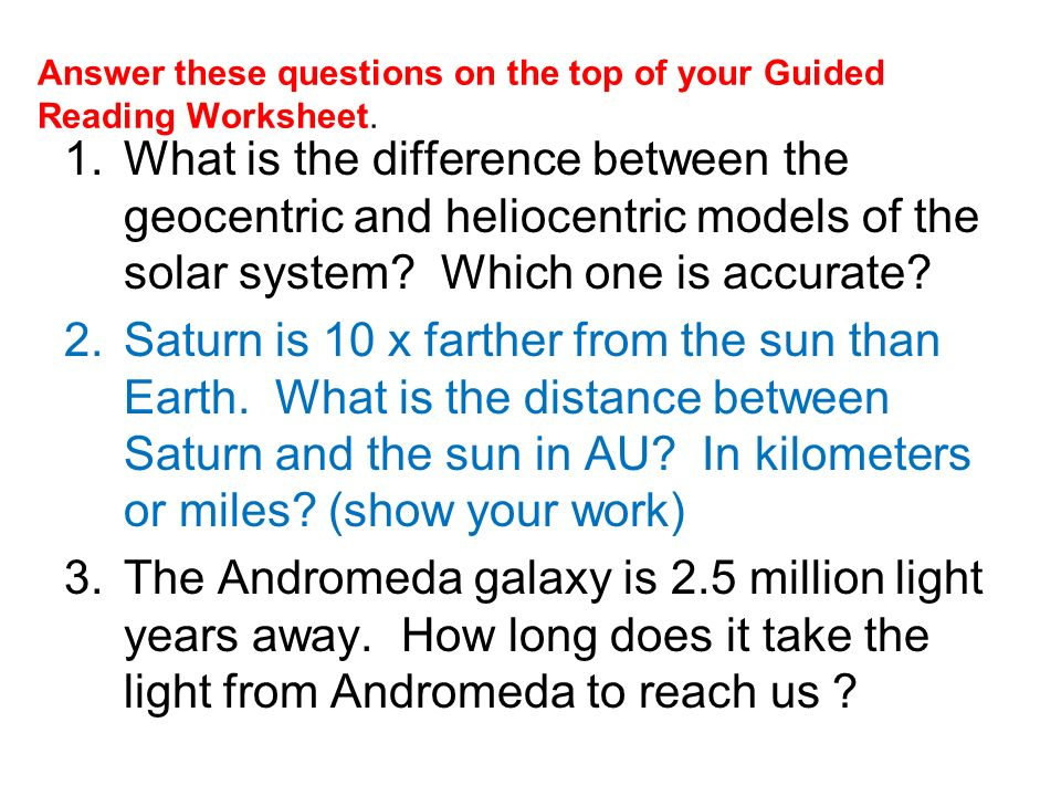 Chapter 251 Models Of Our Solar System Ppt Video Online Download