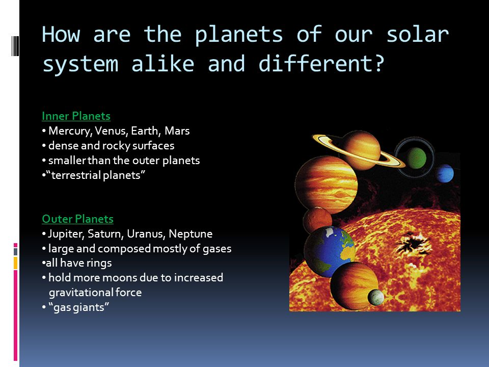 the inner and outer planets in our solar system universe - 960×720