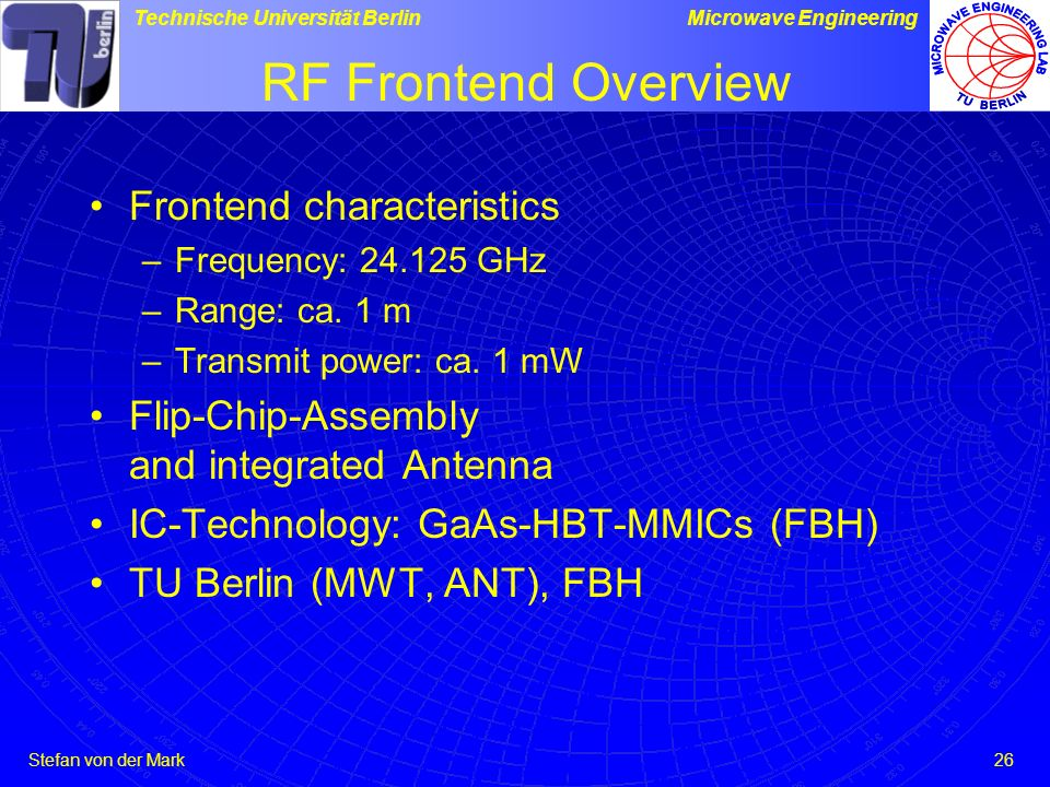 RF Frontend Overview Frontend characteristics