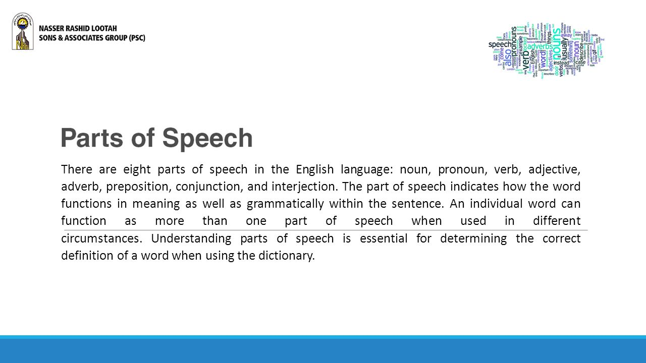 More - what part of the speech