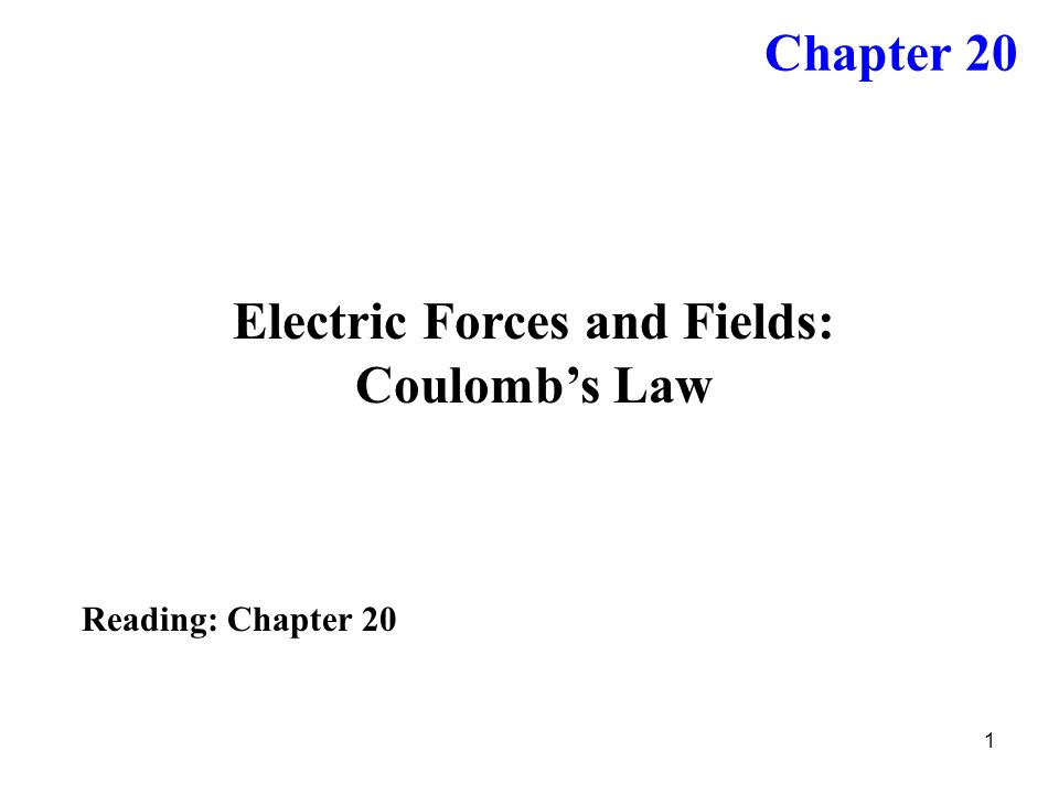 Electric Forces and Fields: Coulomb's Law