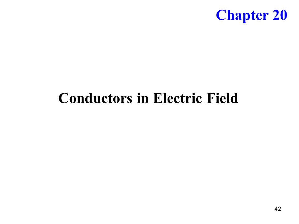 Conductors in Electric Field