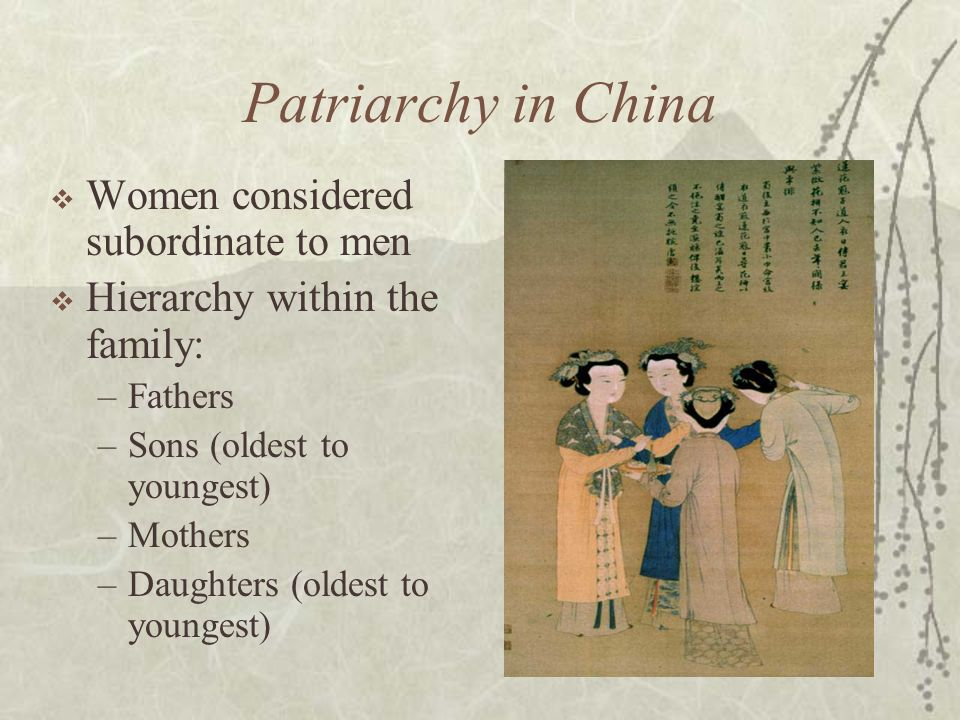 Ancient Chinese Patriarchy