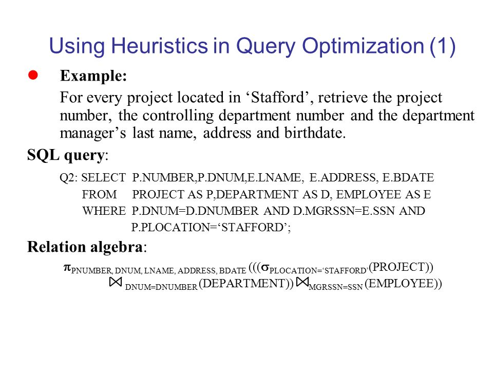 Query processing & optimization ppt video online download.