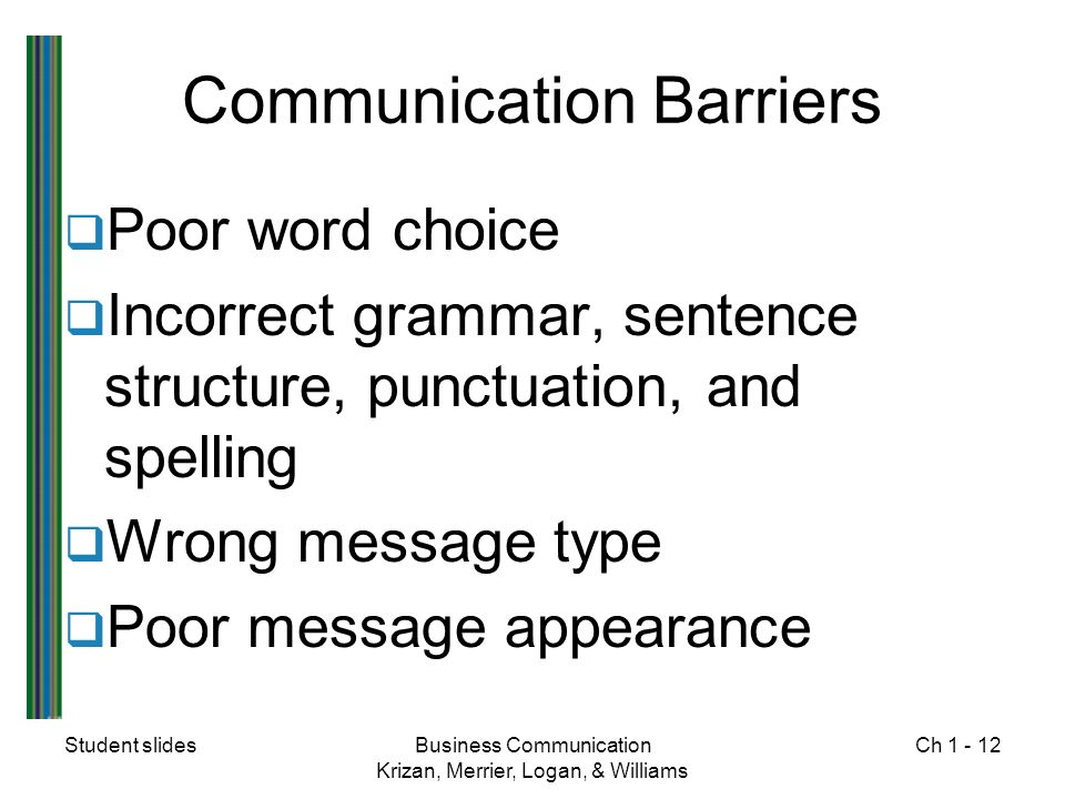 12 communication barriers