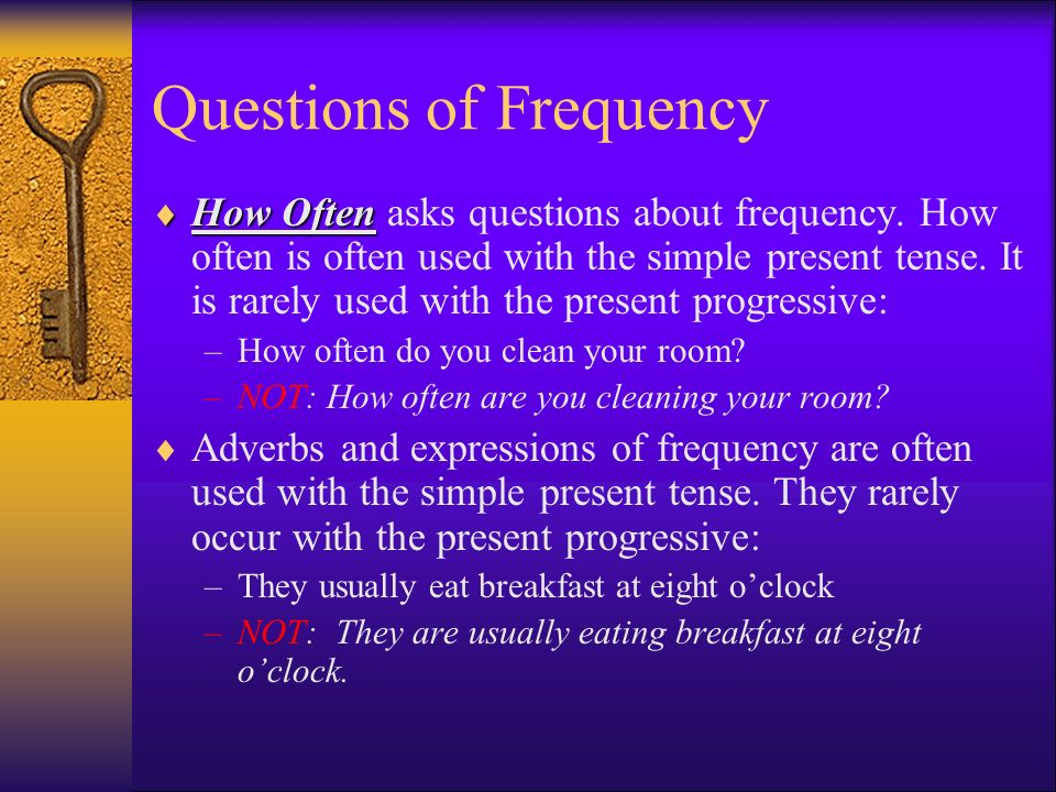 Questions of Frequency