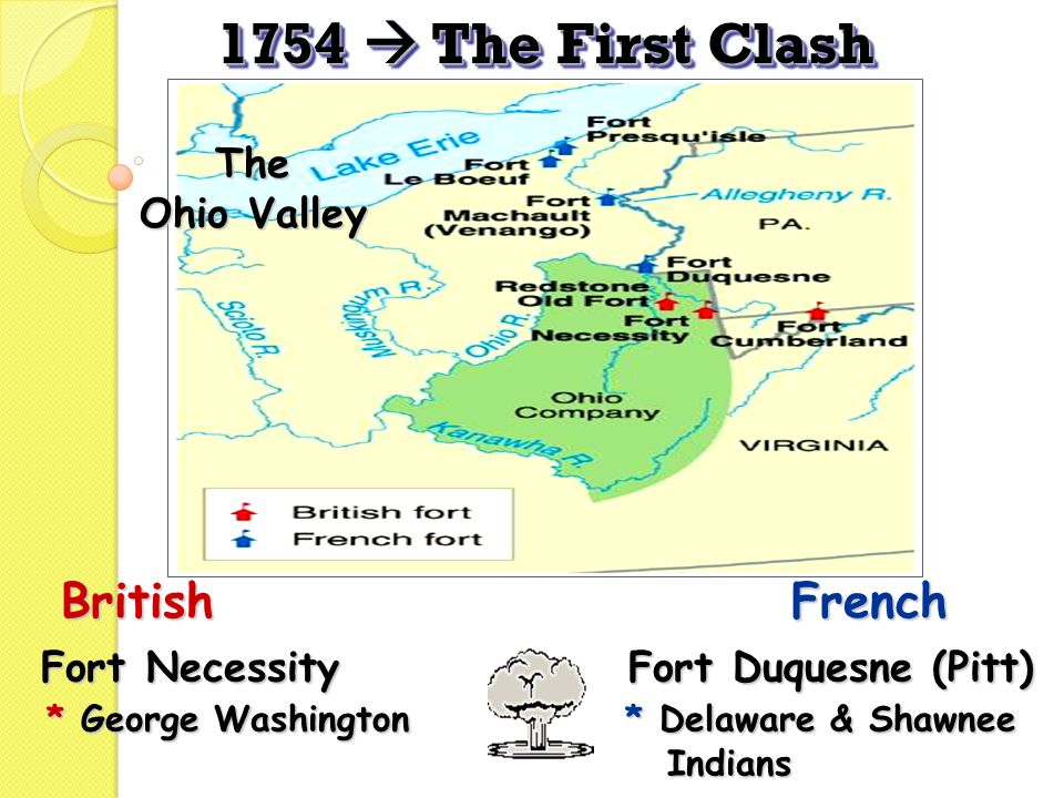 1754  The First Clash British French The Ohio Valley