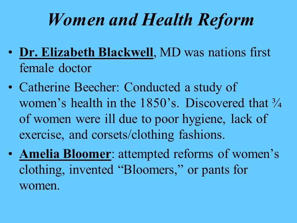 Women and Health Reform
