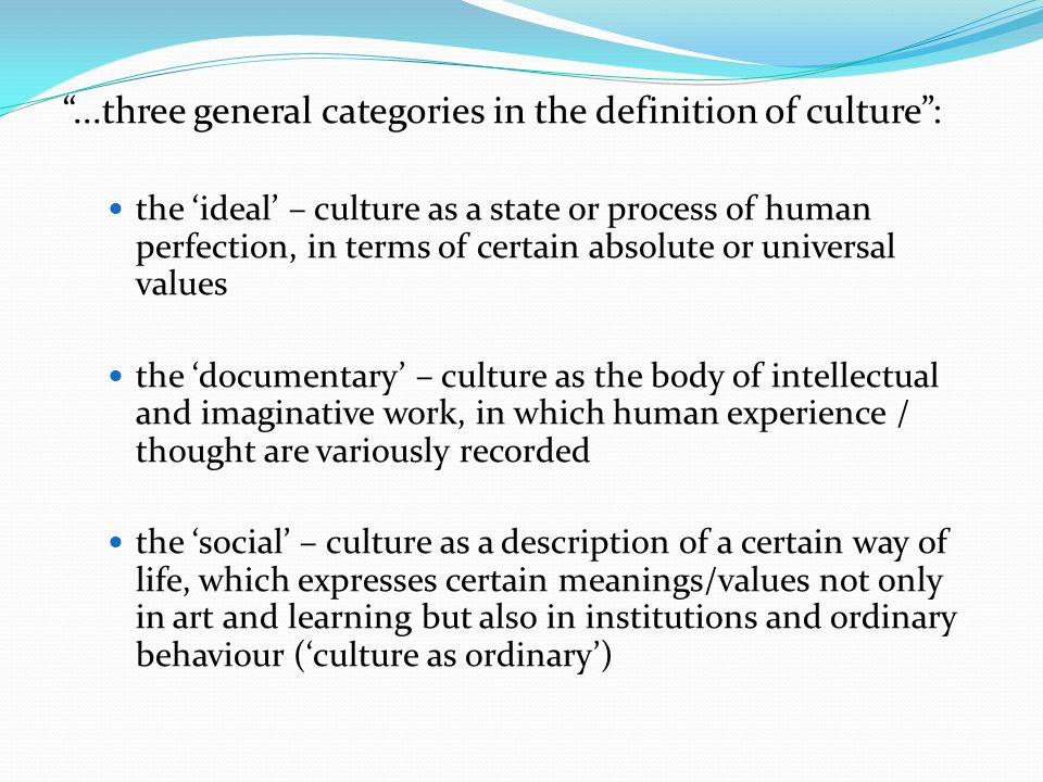 williams culture is ordinary