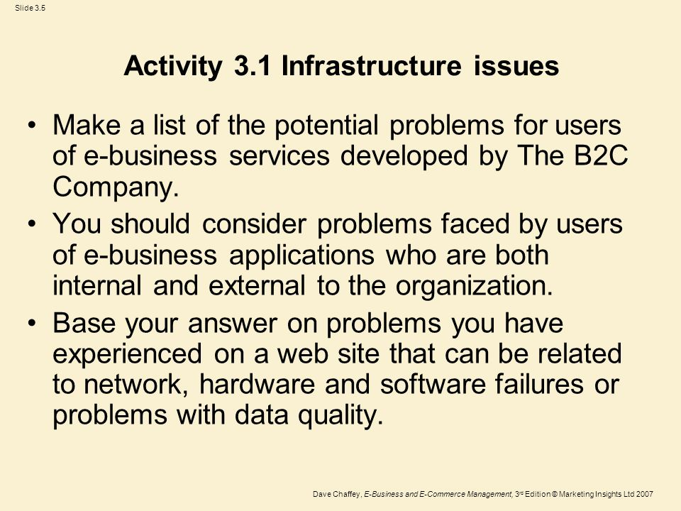 Chapter 3 Ebusiness Infrastructure Ppt Video Online Download. 5 Activity 31 Infrastructure Issues. Worksheet. Chapter 3 Business Organizations Worksheet Answers At Clickcart.co