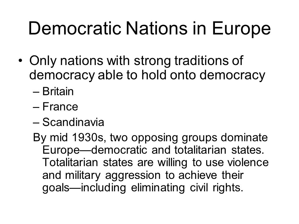 Democratic Nations in Europe