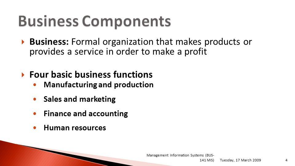 functions of formal organisation