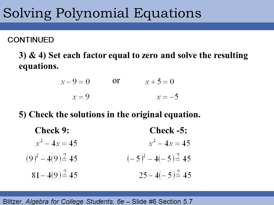 5 7 Polynomial Equations And Their Applications Ppt Download