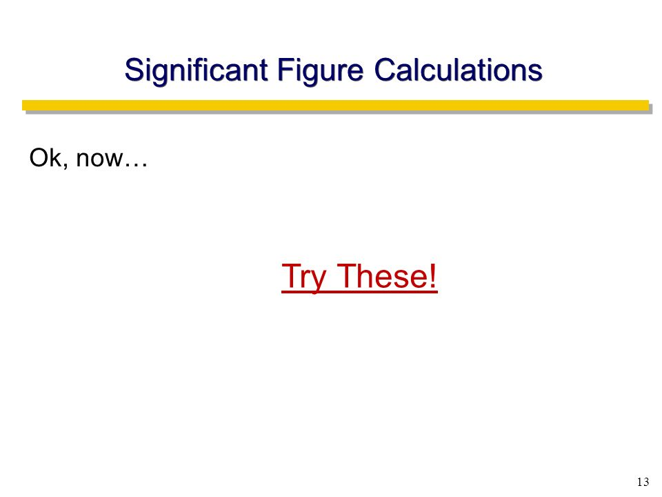 Significant Figure Calculations