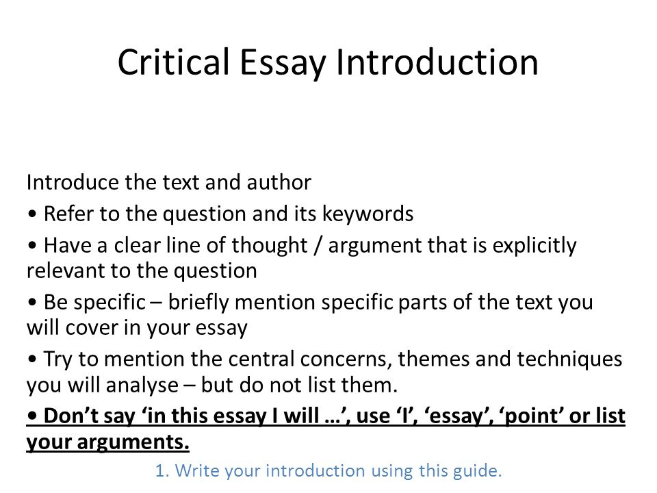 Critical Essay Writing - ppt video online download