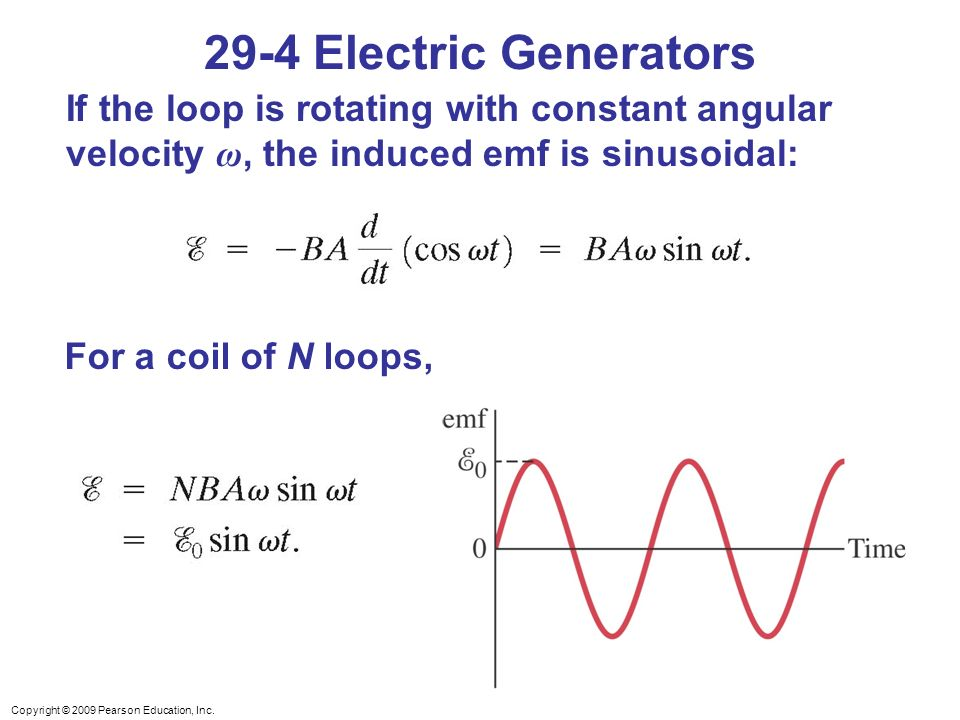 29 4 Electric Generators If The Loop Is Rotating With Constant Angular Velocity ω