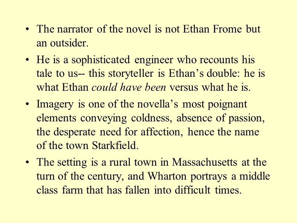 Ethan Frome by Edith Wharton - ppt video online download