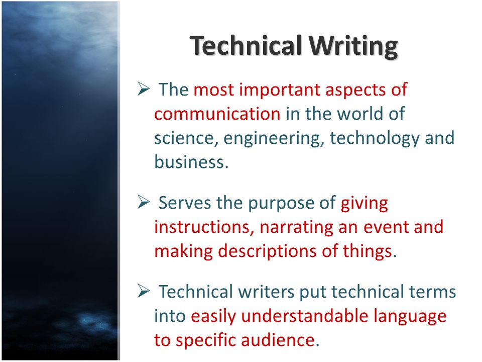 importance of technical writing in information technology
