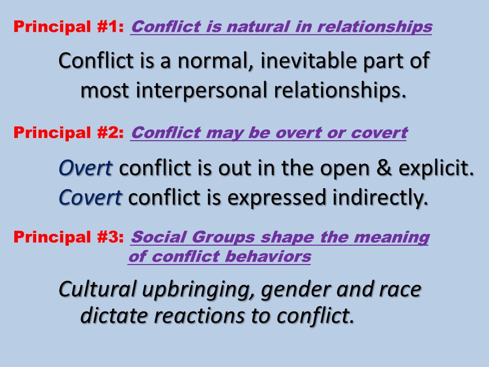 conflict in interpersonal communication