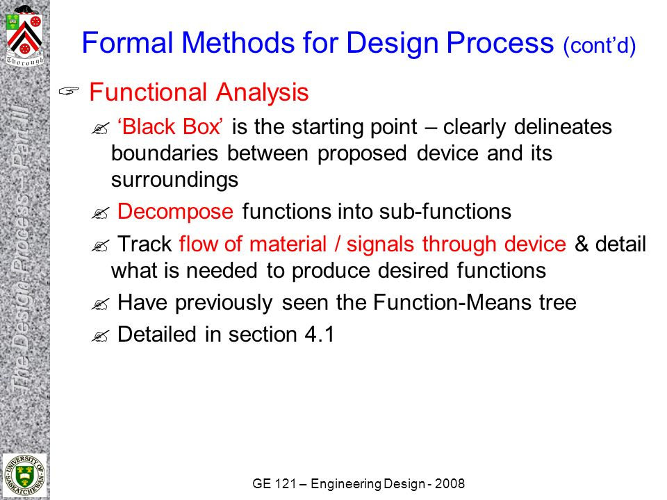 Engineering Design Ge121 The Design Process Continued Part Iii Ppt Download