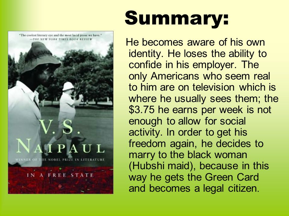 one out of many naipaul Thus, naipaul incorporates the first element of cultural alienation, class naipaul also analyzes the concept of race when considering the subject matter of cultural alienation in the text, naipaul does this by primarily focusing on the hubshi or black people within washington, dc—the setting of the story.
