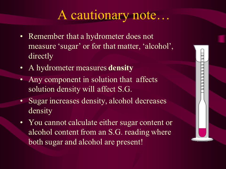 how to determine alcohol content