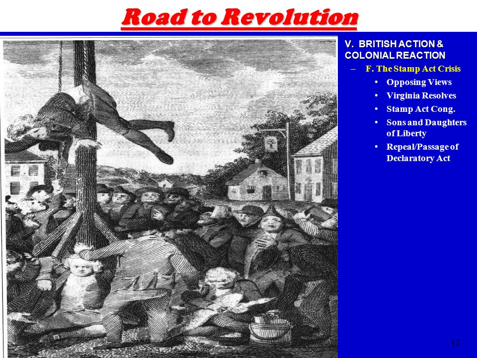Road To Revolution V BRITISH ACTION COLONIAL REACTION