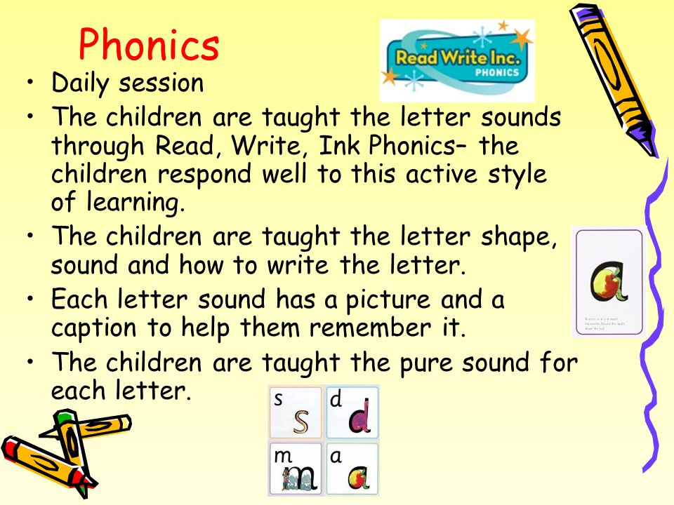 Phonics Daily session.