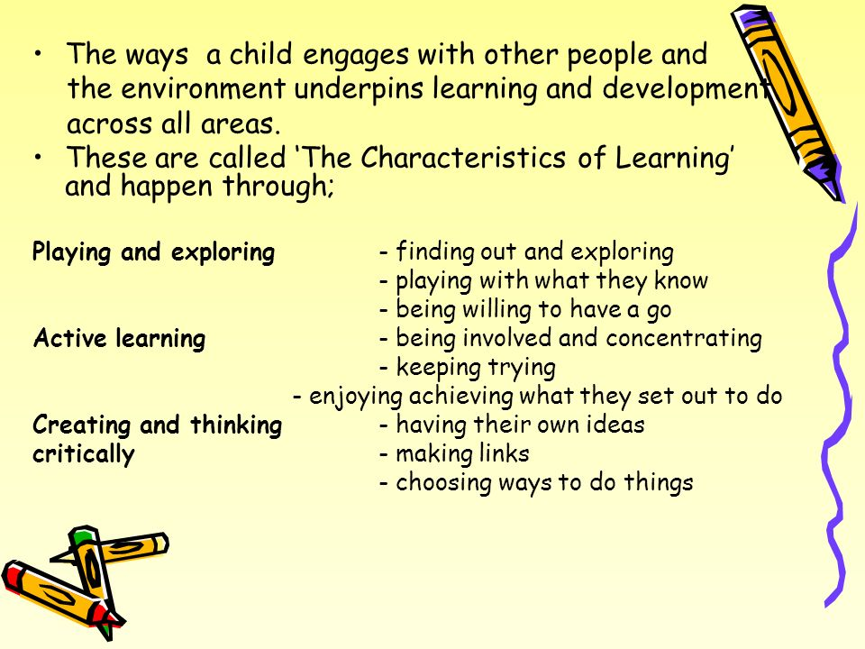 The ways a child engages with other people and