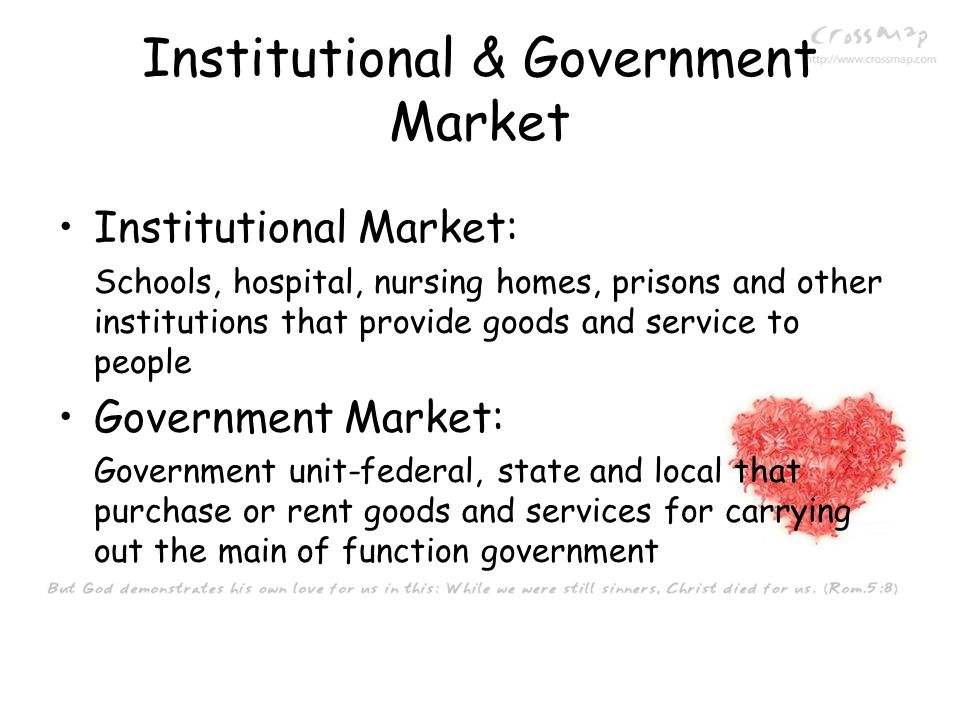 Institutional & Government Market