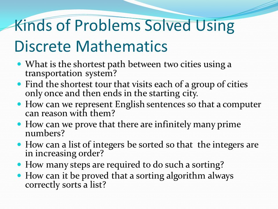 discrete mathematics solved problems