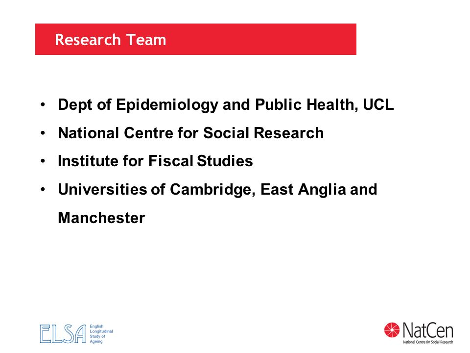 Dept of Epidemiology and Public Health, UCL