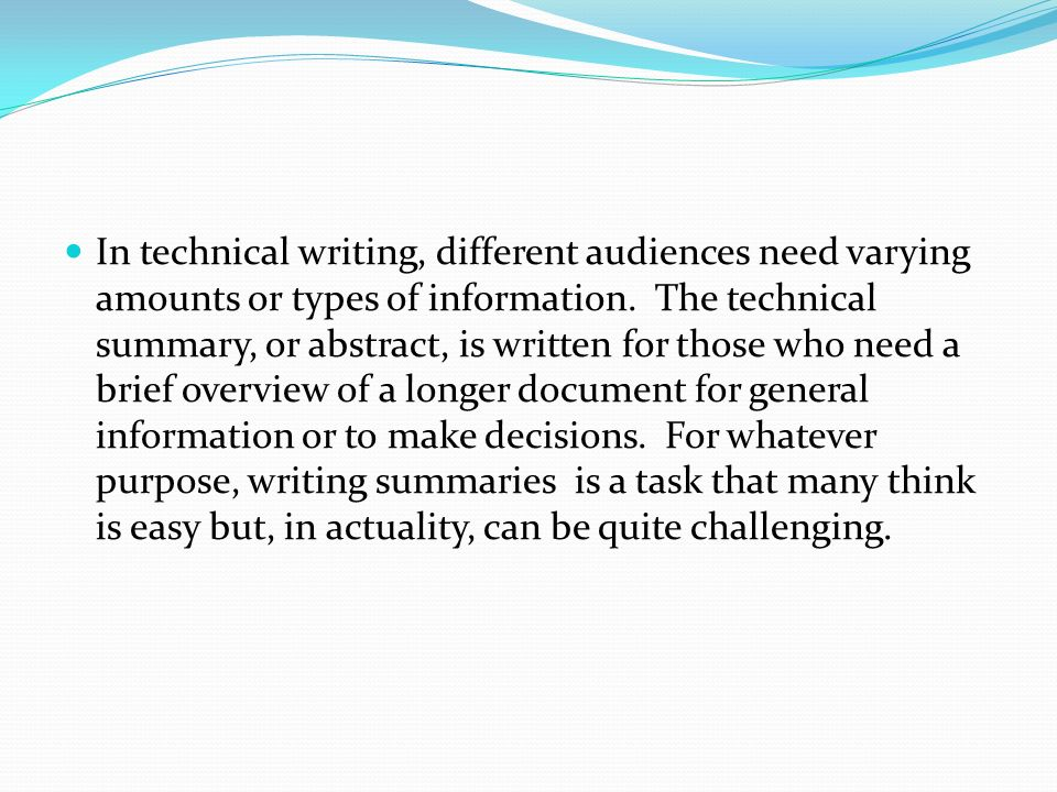 writing a synopsis