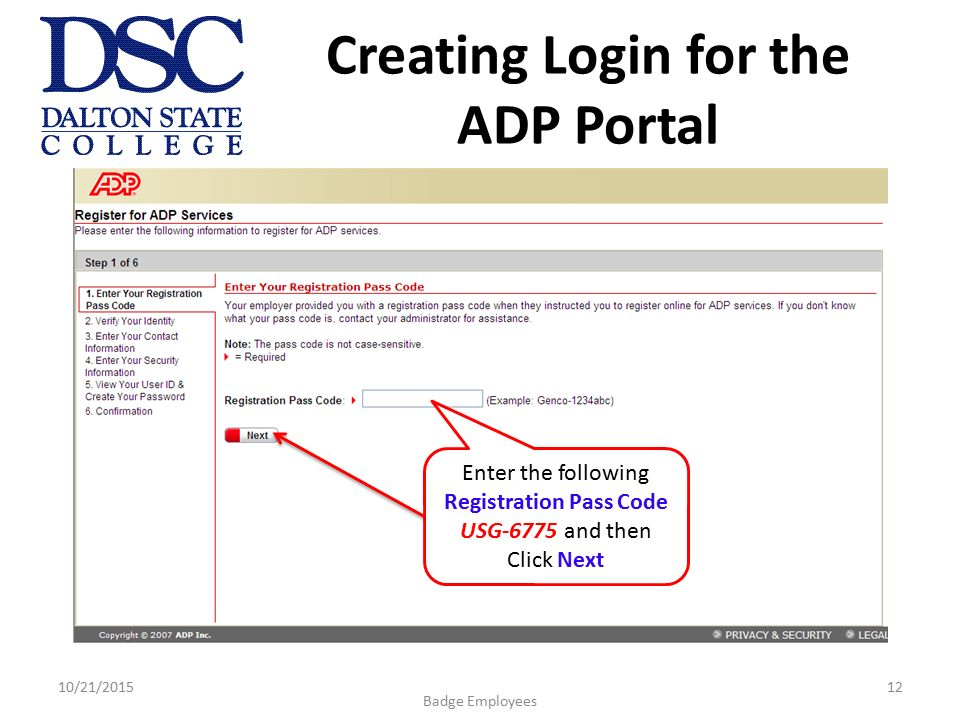 registration code adp ipay