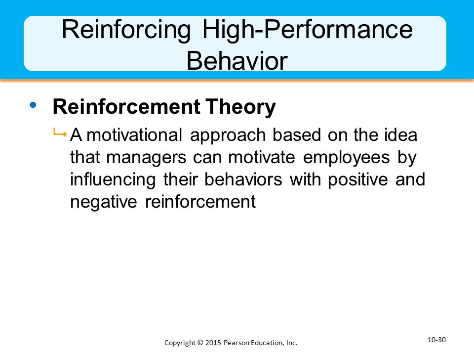 the reinforcement theory