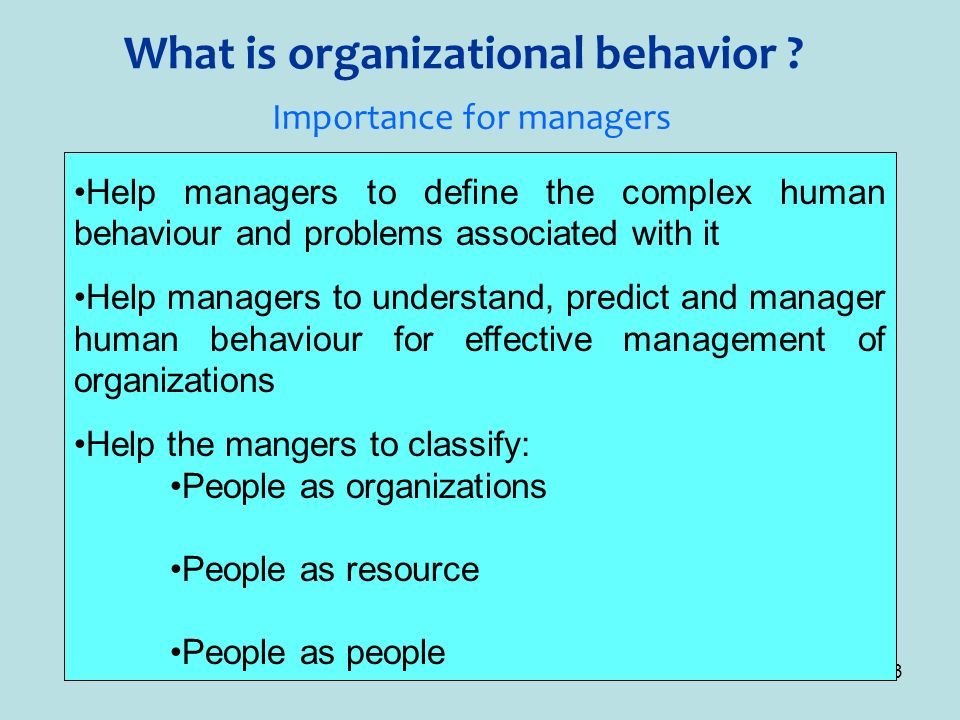 why is the organizational behavior model important in management