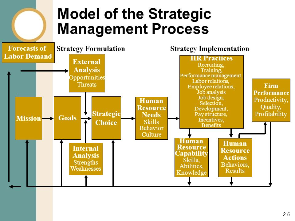 human resource management gaining a competitive advantage ppt downloadmodel of the strategic management process