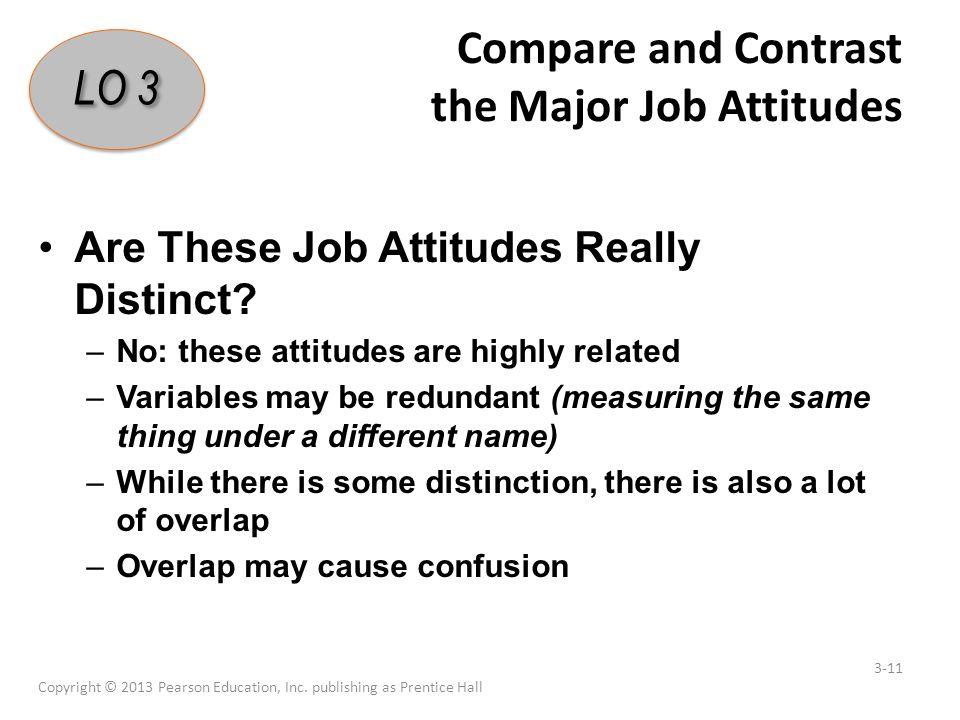 major job attitudes