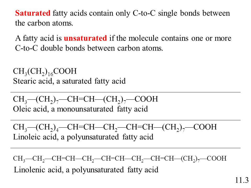 Stearic Acid A Saturated Fatty CH3 CH27 CH