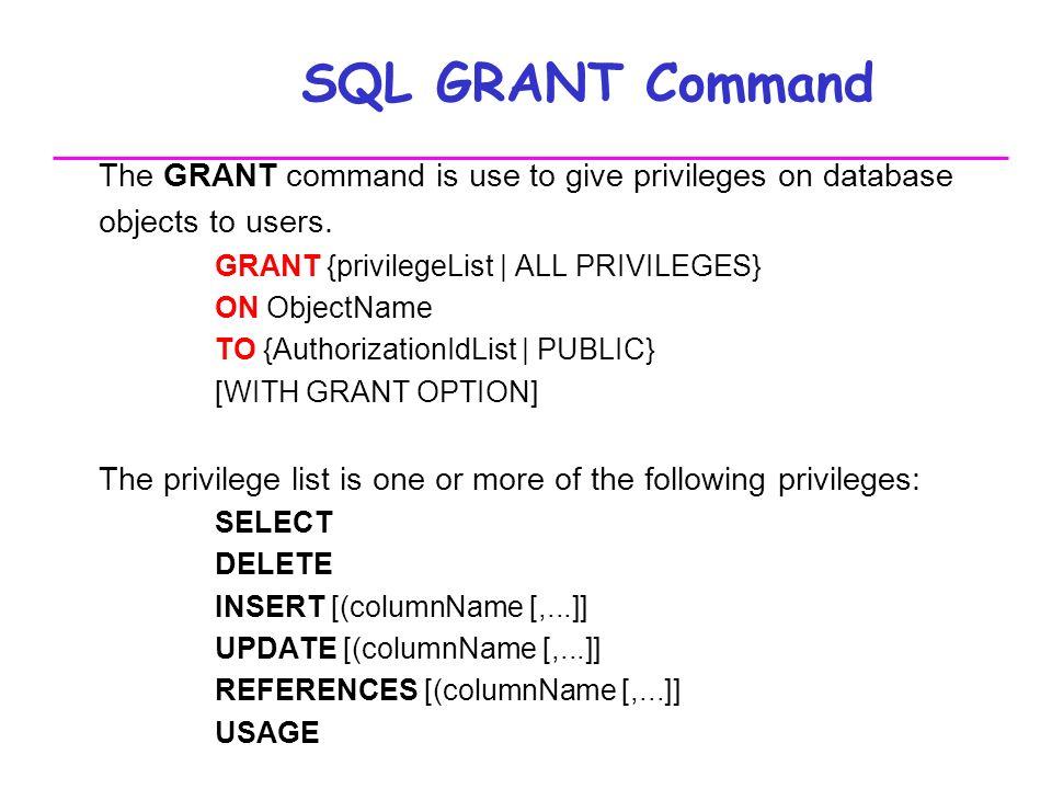 Grant example in sql.