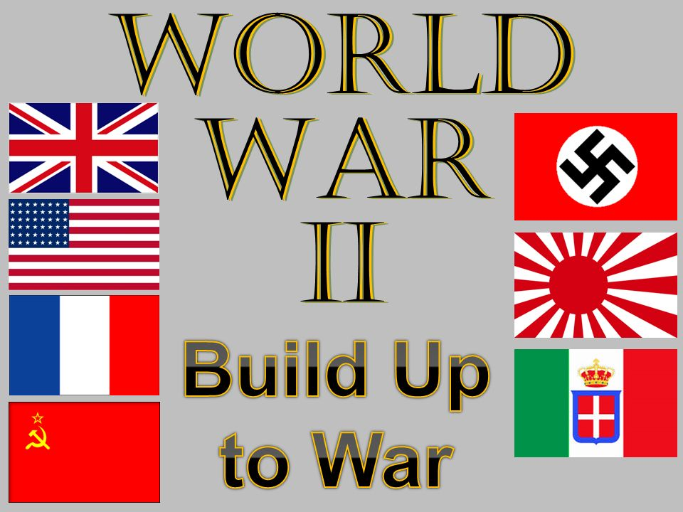 World War II Build Up to War