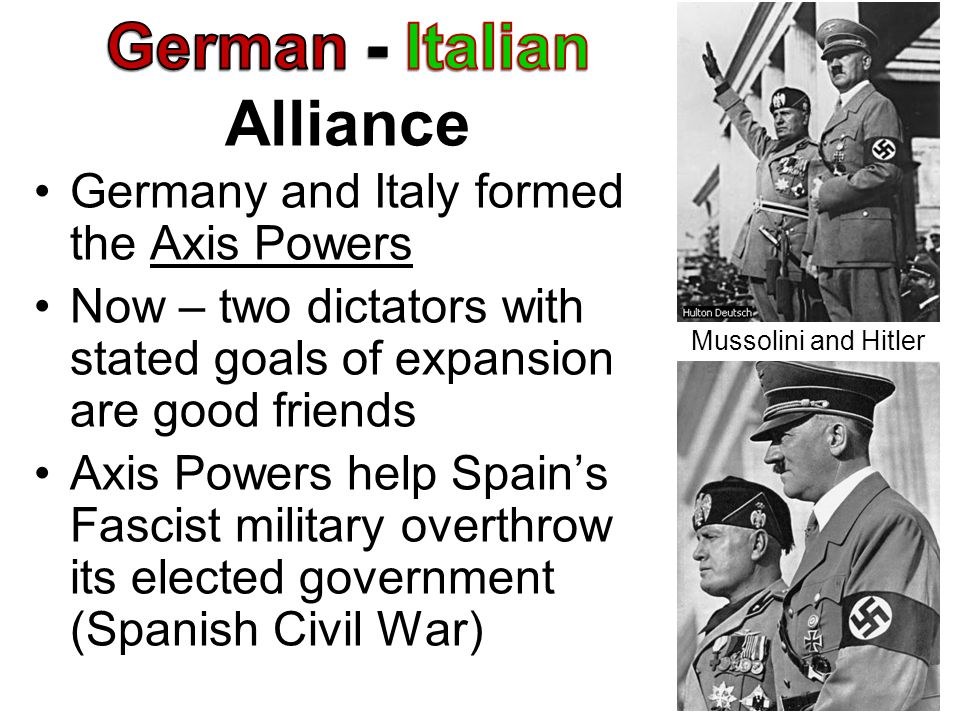 German - Italian Alliance