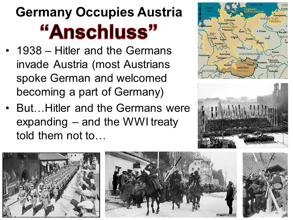 Germany Occupies Austria Anschluss