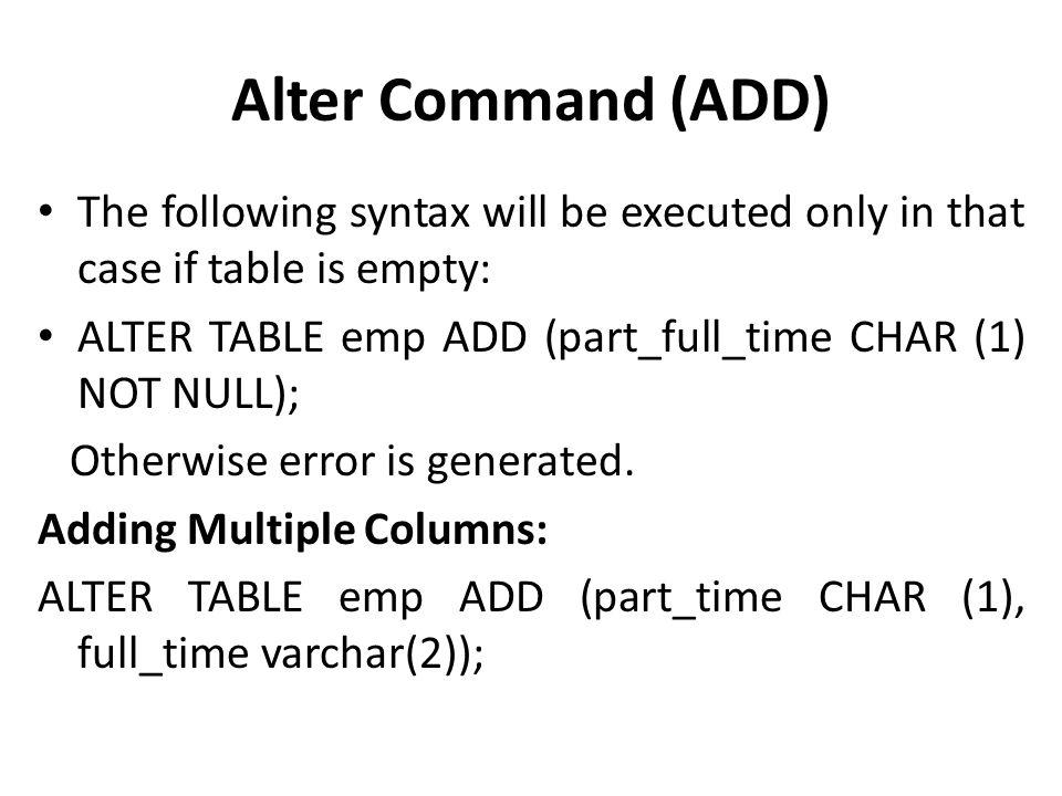 SQL (DDL & DML Commands) - ppt download