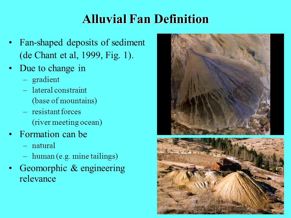 Alluvial Fan Definition