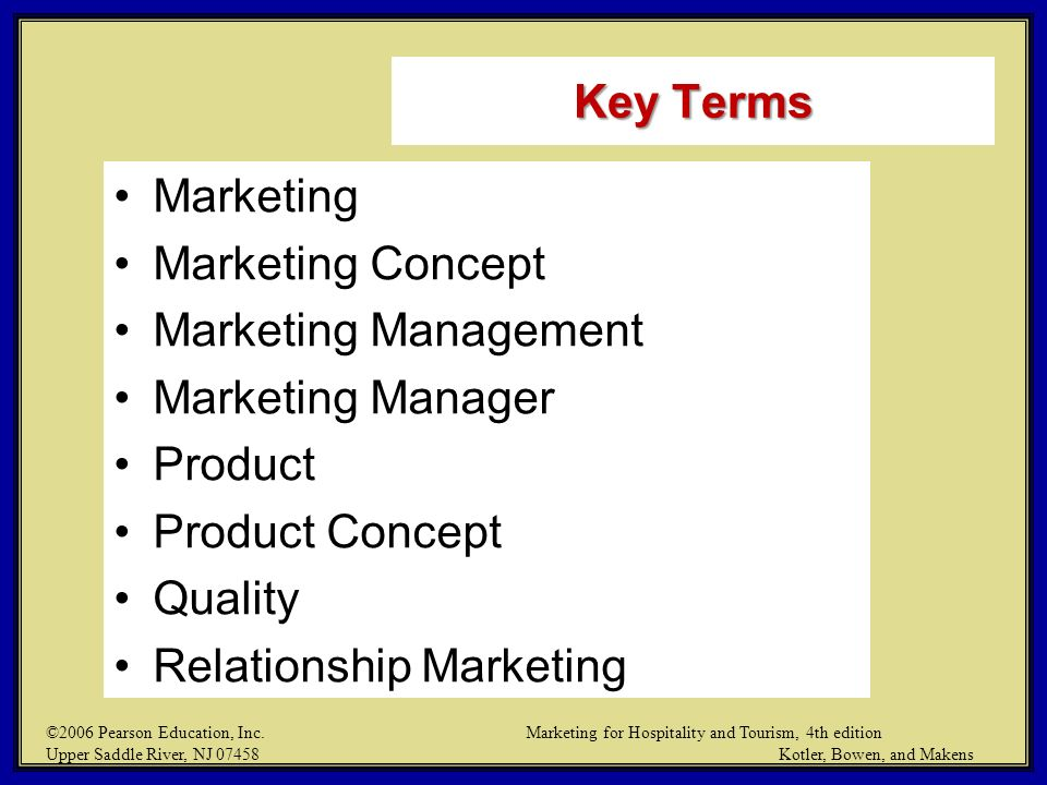 Chapter 1 Introduction Marketing For Hospitality And Tourism Ppt