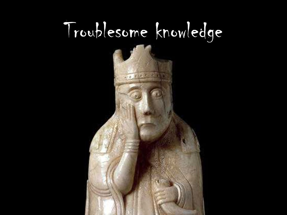 Troublesome knowledge