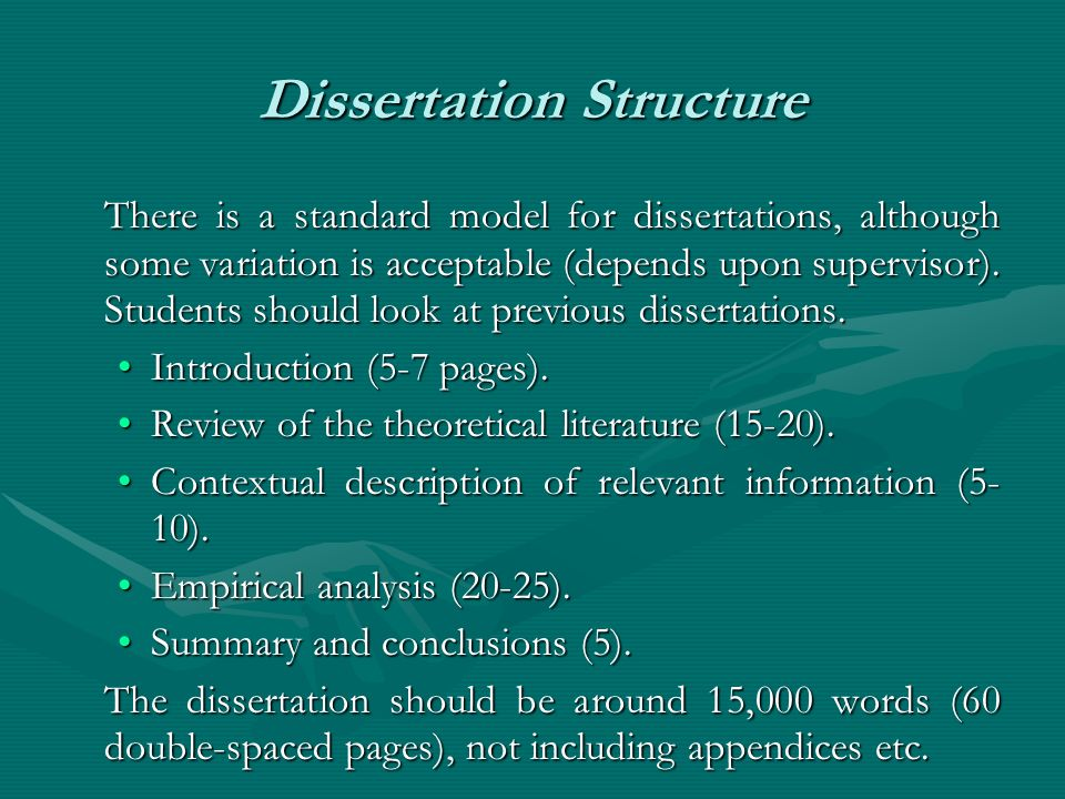 Image result for word dissertation structure