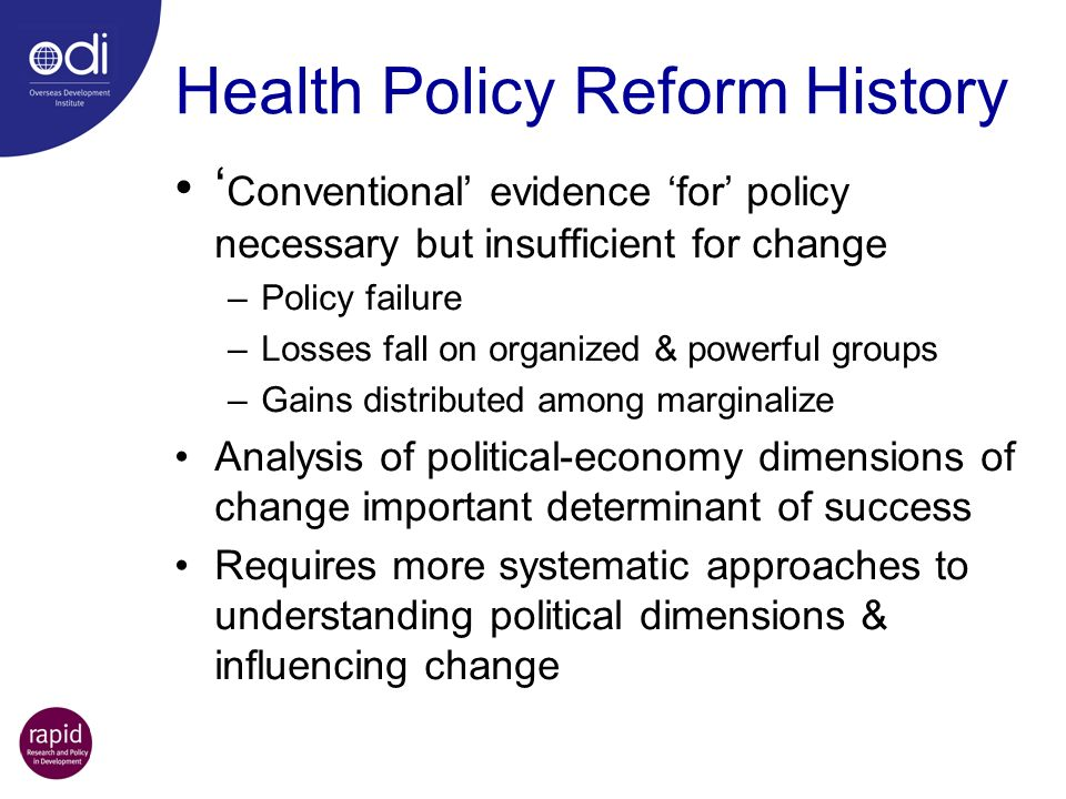 Health Policy Reform History